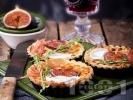 Рецепта Тарталети със смокини, хамон и козе сирене